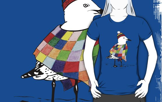 Chilli the Seagull T-shirt by Jakki O