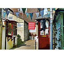 Small Side Street In Lyme Regis Photographic Print