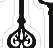 Victorian black & white Keys Sticker