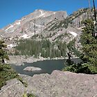 Hallet Peak At Emerald Lake by Luann wilslef
