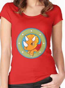 Wonder Triceratops! Limited Edition Design Women's Fitted Scoop T-Shirt
