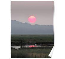 Summer Sunset over the Great Marsh Poster