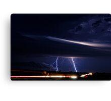 Highway Lightning Canvas Print