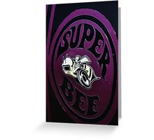 Super bee on the super car Greeting Card