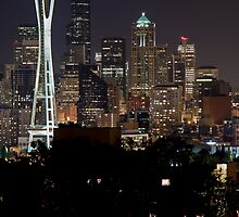Space Needle, Downtown Seattle by Barb White