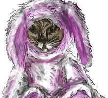 Cat Dressed as a Bunny by Jrose6