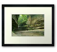 LaSalle Canyon Waterfall Framed Print