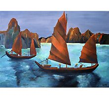 Junks In the Descending Dragon Bay Photographic Print