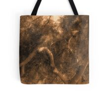 Study in Light and Shadow: Lush Foliage and Tangled Branches in Sepia #1 Tote Bag