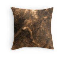 Study in Light and Shadow: Lush Foliage and Tangled Branches in Sepia #1 Throw Pillow