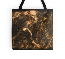 Study in Light and Shadow: Lush Foliage and Tangled Branches in Sepia #2 Tote Bag