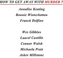 How to get away with murder by Alrescha