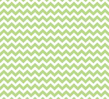 apple green chevrons by ImageNugget