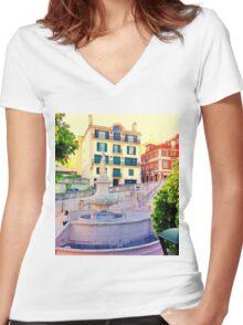 Lisbon 36º Women's Fitted V-Neck T-Shirt
