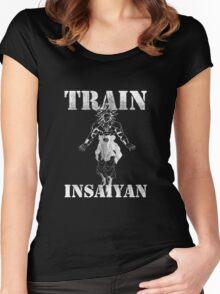Train Insaiyan Women's Fitted Scoop T-Shirt