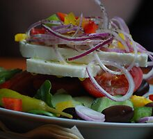 Greek Salad by Rowan  Lewgalon
