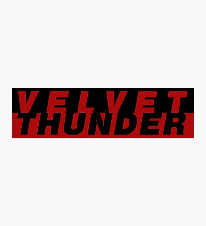 CODENAME: VELVET THUNDER Photographic Print