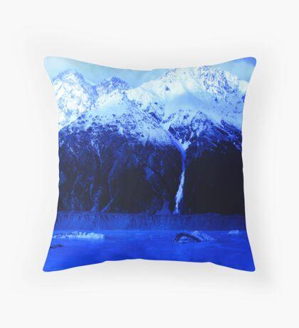 Icebergs Throw Pillow