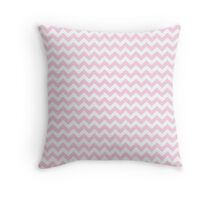 light pink chevrons Throw Pillow
