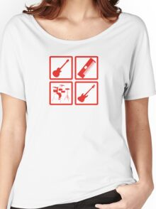 K-ON! Band Instruments Logo Women's Relaxed Fit T-Shirt
