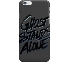 Ghost stands alone (BLK) iPhone Case/Skin