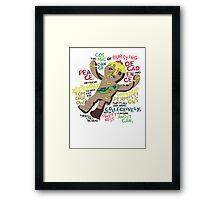 Adventure Time Royal Tart Toter Framed Print