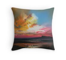 Sgurr of Eigg study Throw Pillow