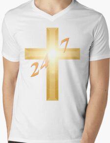 24 7 Mens V-Neck T-Shirt