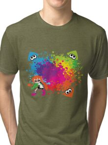 Splatoon - Ink Burst Tri-blend T-Shirt