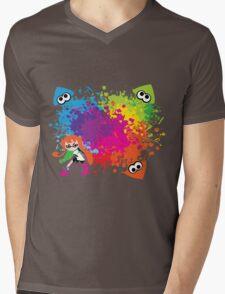 Splatoon - Ink Burst Mens V-Neck T-Shirt