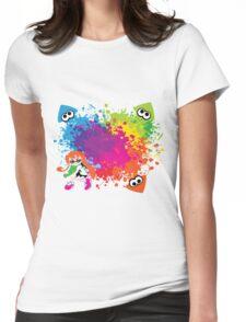 Splatoon - Ink Burst Womens Fitted T-Shirt