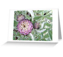 Mauve Globes Greeting Card