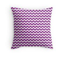 purple chevrons Throw Pillow