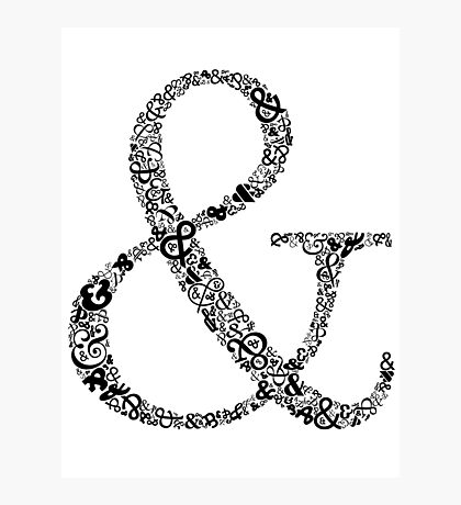 Ampersand LOVE Photographic Print