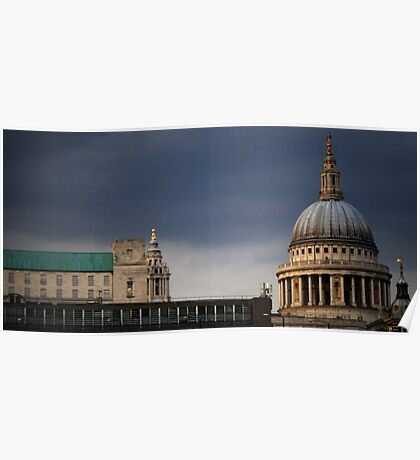 St.Pauls Cathedral across The Thames - Top Poster