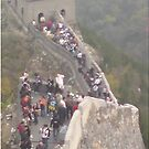 Great Wall of China: Tourists by barnsy