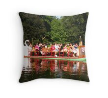 Swan Boat • Boston Throw Pillow