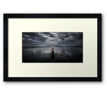 Swimmer  version 2  Framed Print