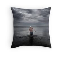 Swimmer  version 2  Throw Pillow