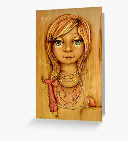 Love Beads Greeting Card