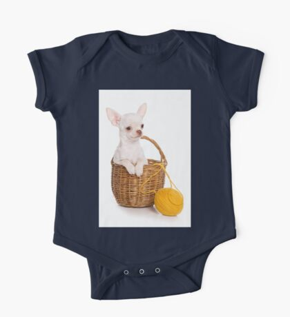 Chihuahua puppy in a basket One Piece - Short Sleeve