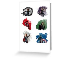 The Avengers + Watercolours Greeting Card