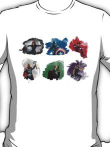 The Avengers + Watercolours T-Shirt