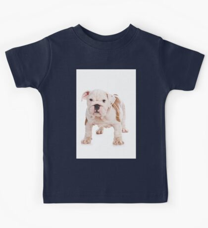 Cute puppy bulldog Kids Tee