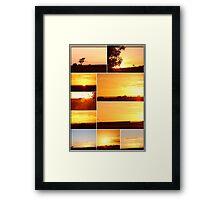 Sunset Collage...MELTON VICTORIA Framed Print