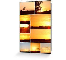Sunset Collage...MELTON VICTORIA Greeting Card
