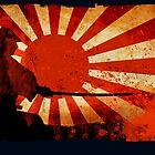 Samurai Sun – Greeting Card by Naf4d