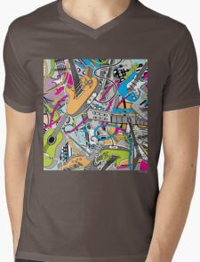 Music Mens V-Neck T-Shirt