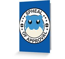 Pokemon Spheal of Approval Greeting Card