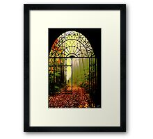 Gates of Autumn Framed Print